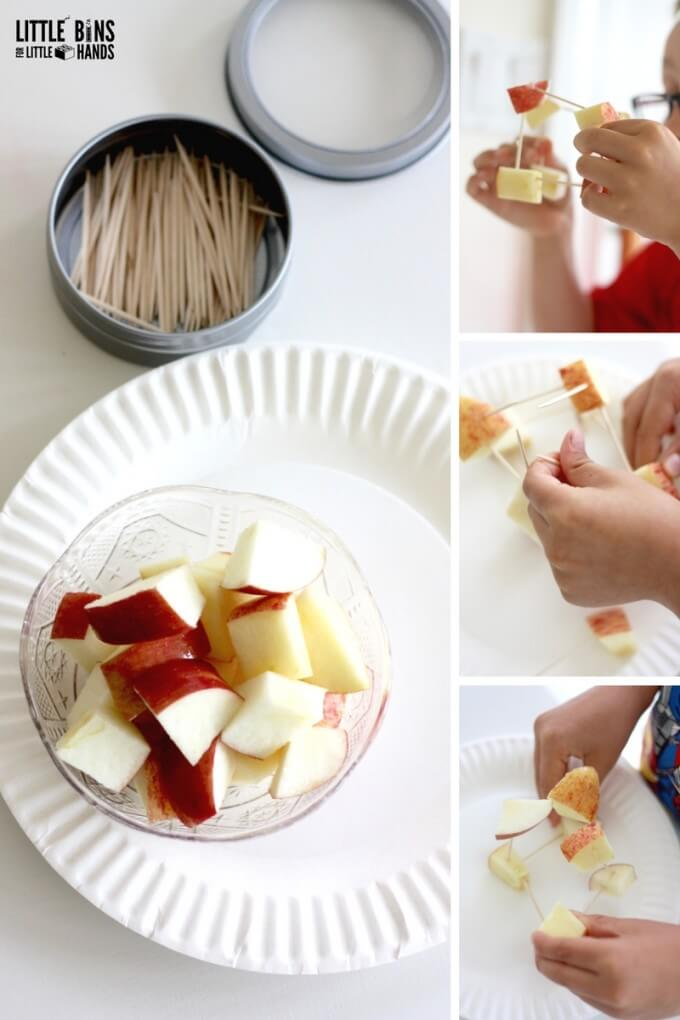 Apple Structures FALL STEM Activity for kids