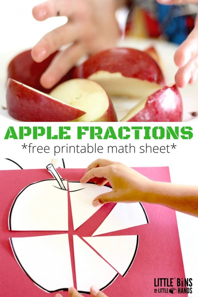 APPLE FRACTIONS PRINTABLE