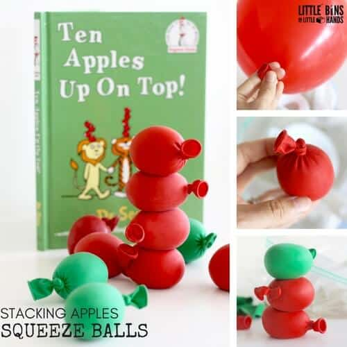 Apple Squeeze Balls Calm Down Balls Stress Balls for Ten Apples Up On Top