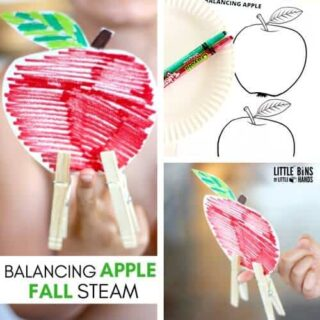 Balancing Apple Fall STEM Activity