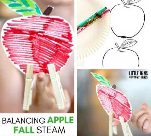 Balancing Apple (FREE PRINTABLE) Activity