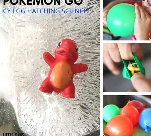 Hatch Pokemon Eggs Ice Science Activity