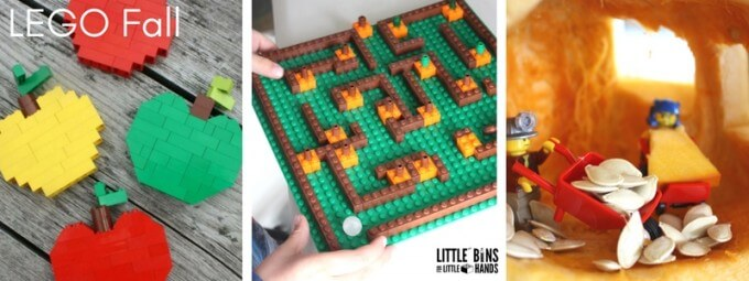 Fall LEGO Building Ideas for Kids Seasonal Challenge