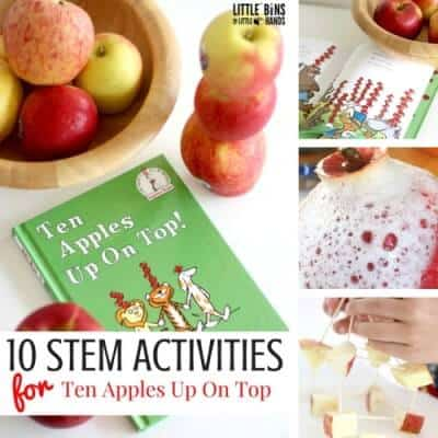 Real Apple STEM Activities for Ten Apples Up On Top