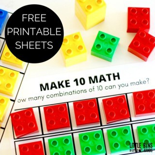Ten Frame Math Activity Make Ten Printable Sheets Kindergarten Math