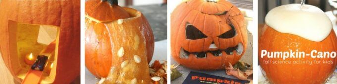 Pumpkin STEM Activities with Orange Pumpkins