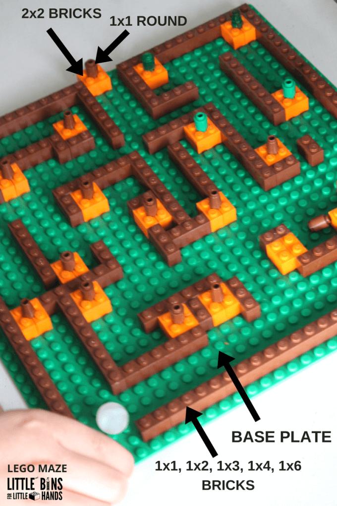 Pumpkin Patch LEGO Maze for Marbles Set Up