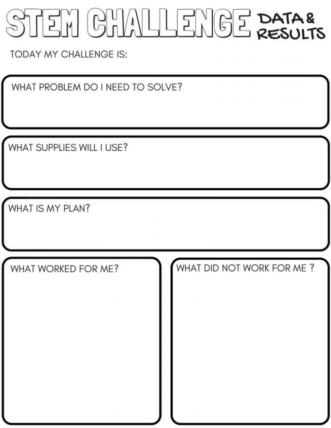 Stem Challenge Worksheets Page 1: Vpk Worksheets At Alzheimers-prions.com