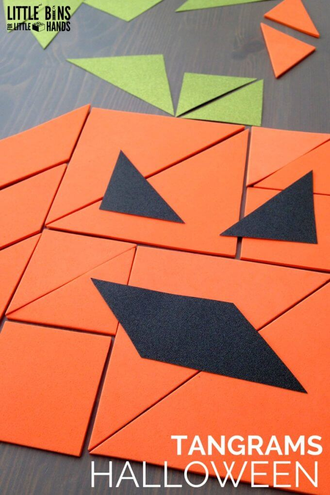 Halloween Tangrams Math Activity for Halloween STEM