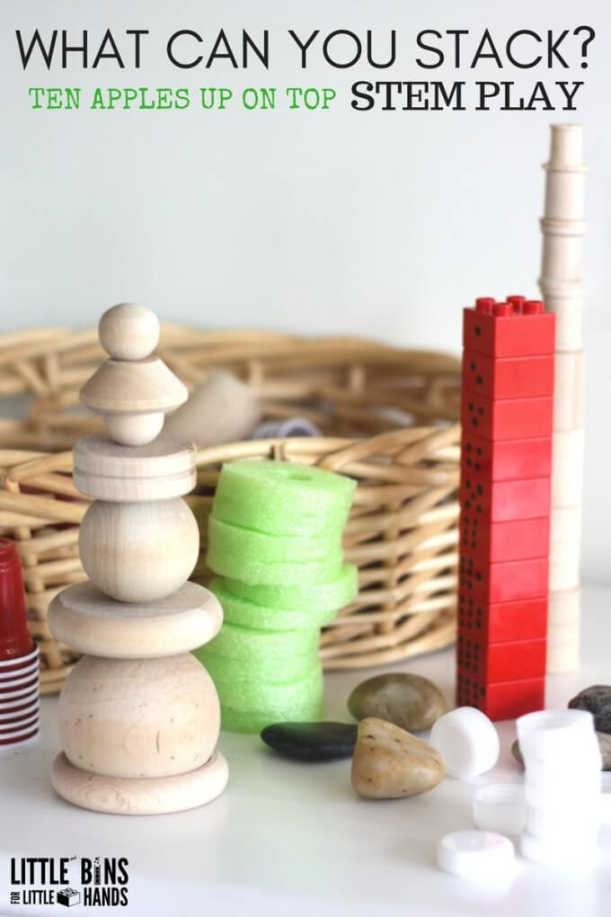 Apple Stacking Activities Loose Parts Stacking Ideas