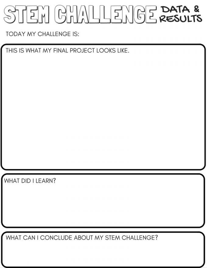 STEM Challenge Worksheets Page 2