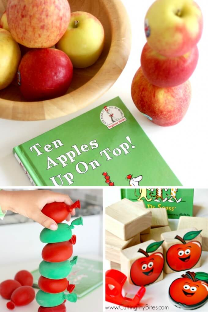Apple Stacking Activities Apple Themed Book Ideas Ten Apples Up On Top STEM