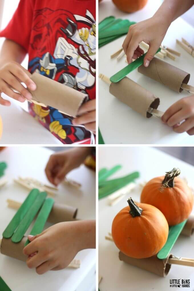 Five Little Pumpkins STEM Challenge Building Structure for Pumpkins