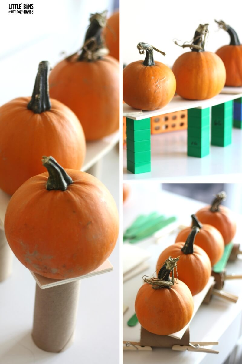 photograph about Five Little Pumpkins Printable referred to as 5 Minor Pumpkins STEM Concern Minimal Boxes for Minimal