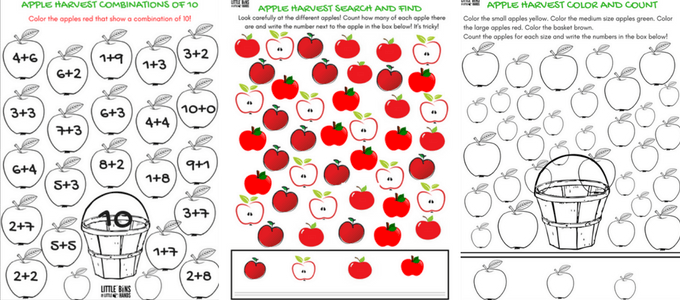 Apple Theme Worksheets and Apple STEM Activities FREE Pages – Theme Worksheets