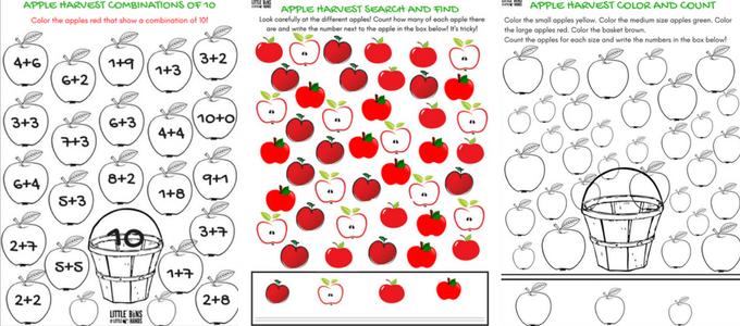 Apple Worksheets For Preschool   Little Bins for Little Hands