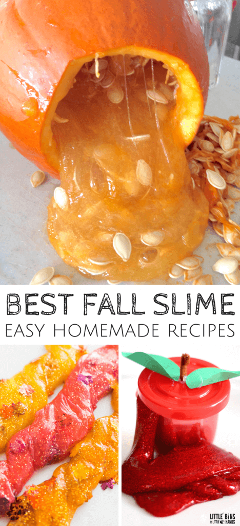 fall slime ideas and recipes for easy fall science activities with kids