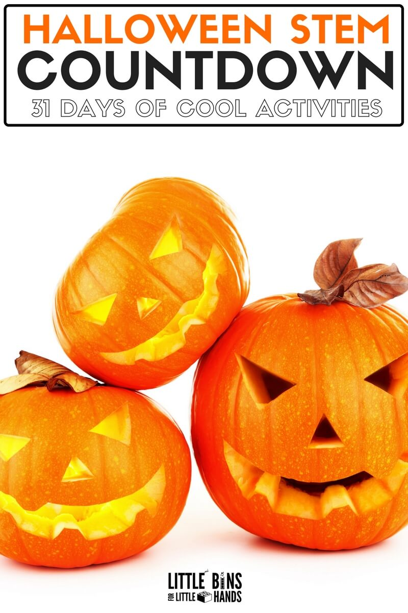 Halloween STEM Activities Calendar Countdown for Kids