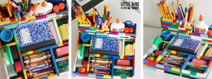 LEGO Desk Organizer for School Supplies