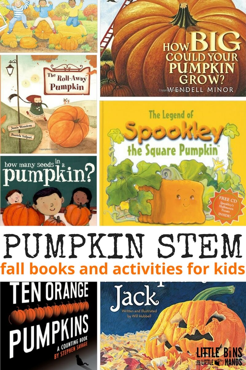 Pumpkin Books Activities For Fall Stem Little Bins For Little Hands