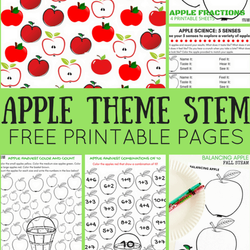 photograph relating to Free Printable Apple Worksheets called Apple Worksheets For Preschool Very little Packing containers for Small Arms