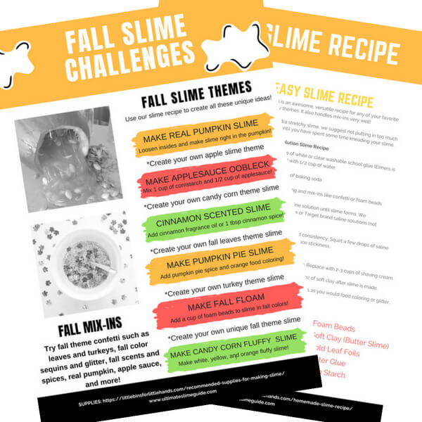 Fall slime ideas for making homemade slime with kids subscribe ccuart Image collections