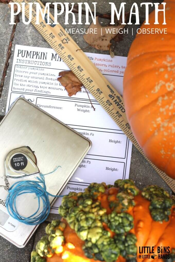 Measuring Pumpkins Math Activity Fall STEM