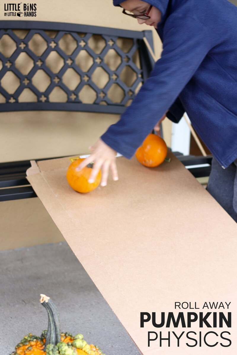 Rolling Pumpkins Science Activity For Fall Themed Stem