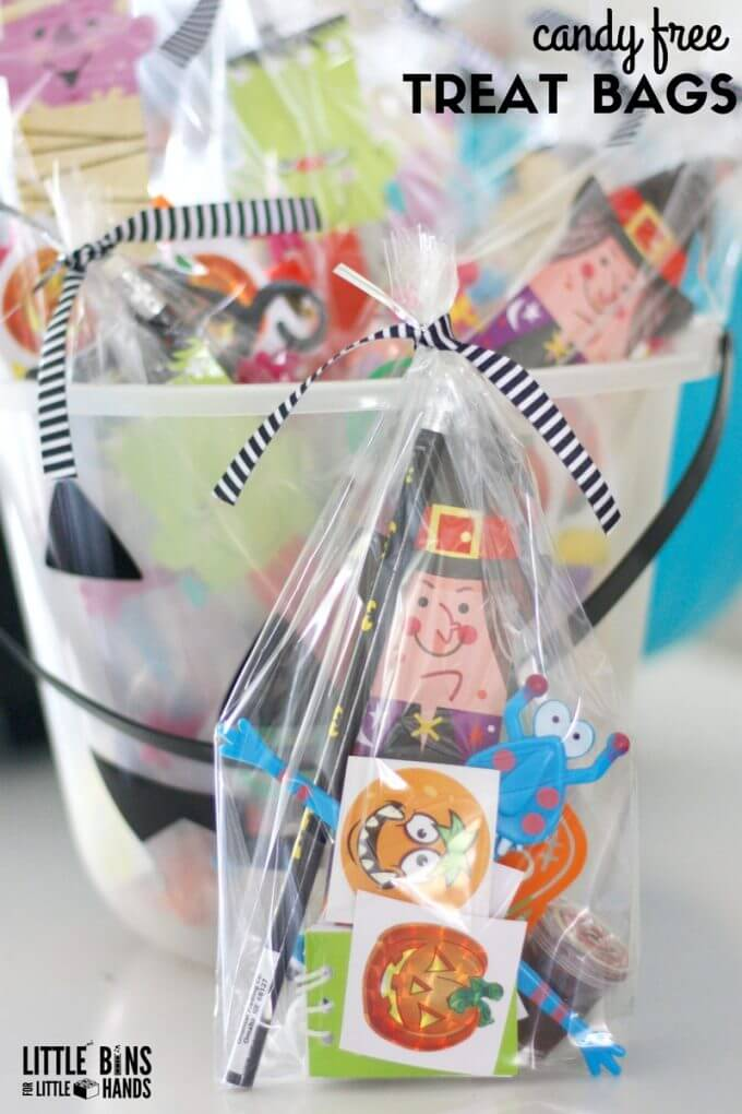 Candy Free Halloween Goodie Bags for Kids