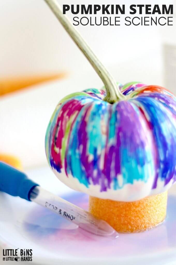 Pumpkin Art Science Project Fall STEM