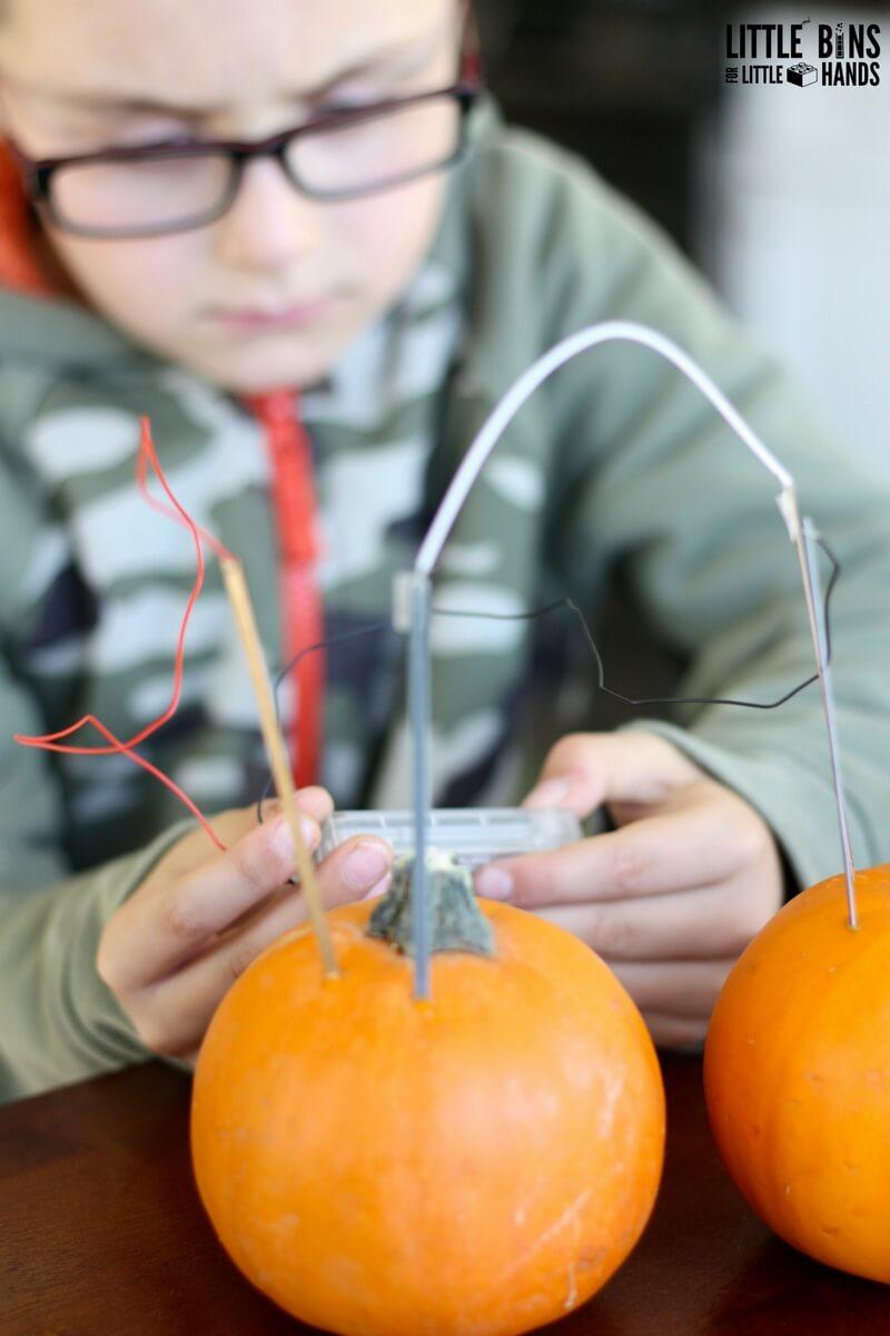 Pumpkin Clock Stem Project