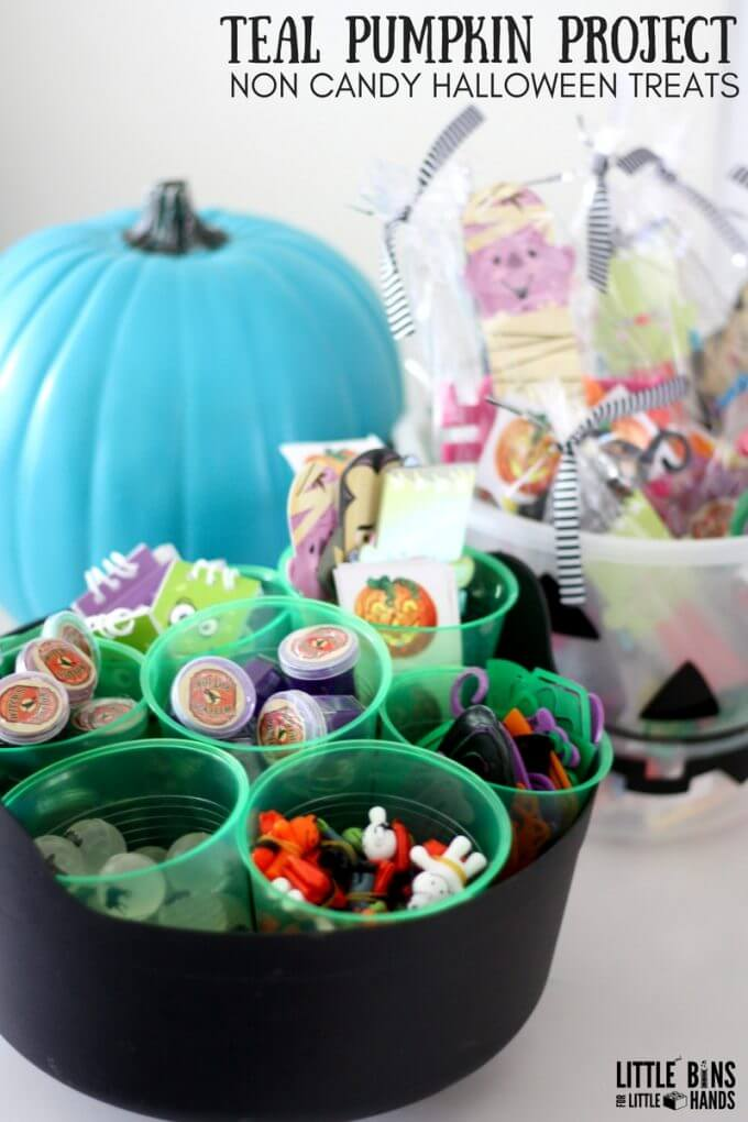 Teal Pumpkin Project Non Candy Halloween Treats Ideas