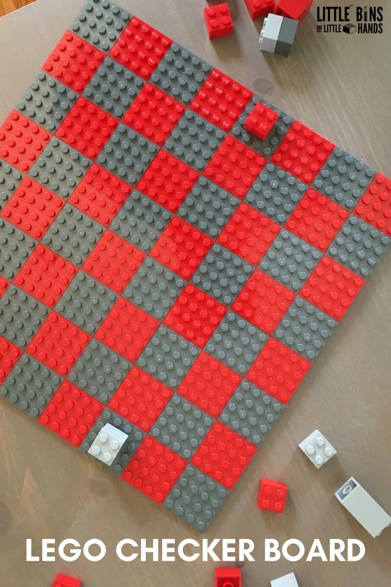 Easy Diy Checkers Homemade Lego Checker Board Game