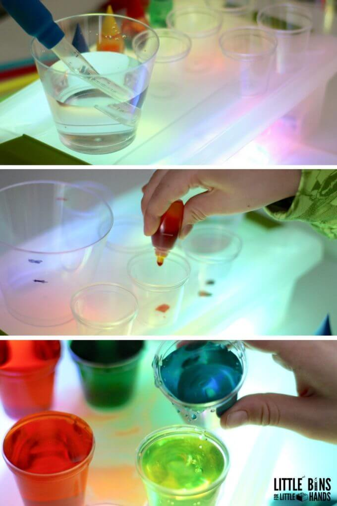 Using Christmas Science Light Box and Mixing Colors