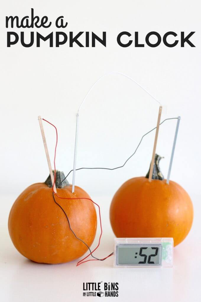 Pumpkin STEM Project with Potato Clock Kit Science Experiment