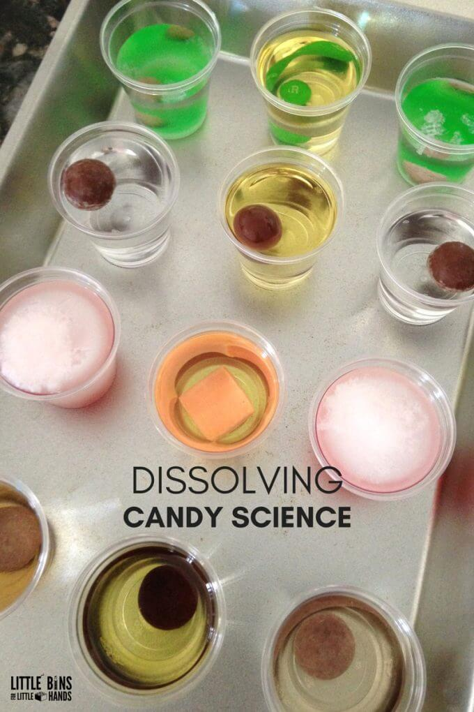 halloween Candy Science Dissolving