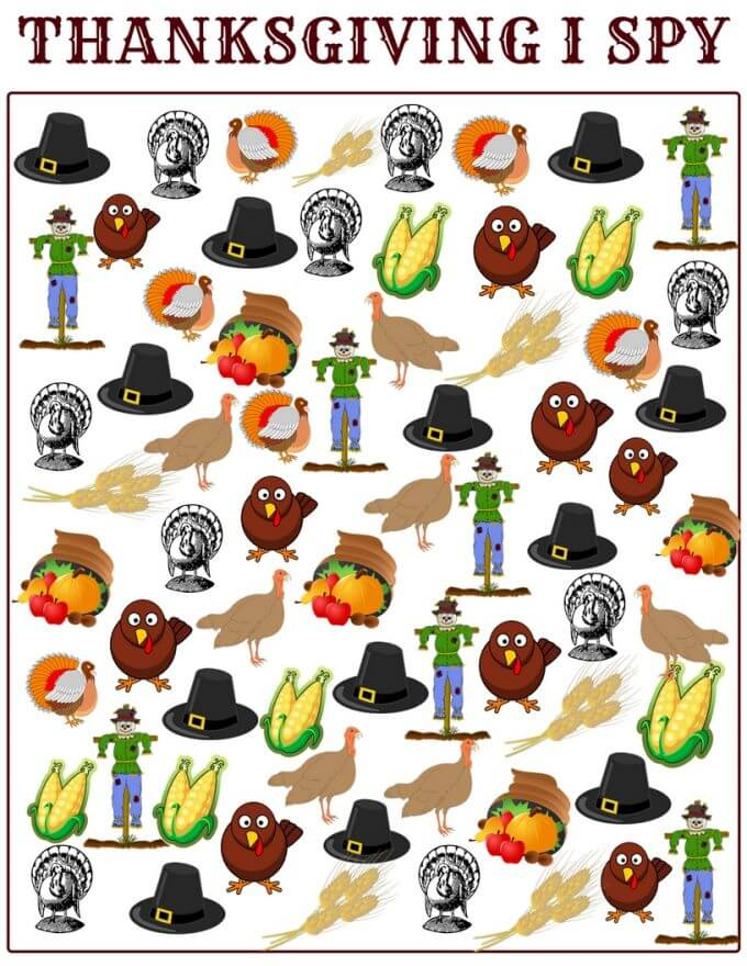 graphic relating to I Spy Printable Worksheets identify Thanksgiving Printable Counting Sport Appear and I Spy