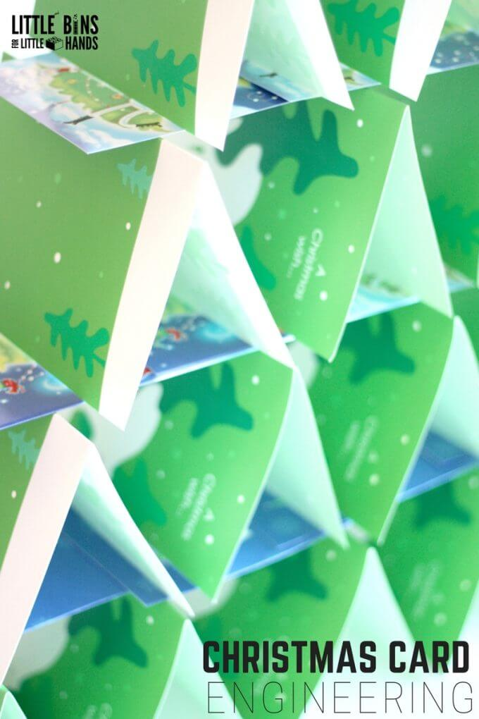 Christmas Card Engineering Activity and Christmas STEM Challenge for Kids