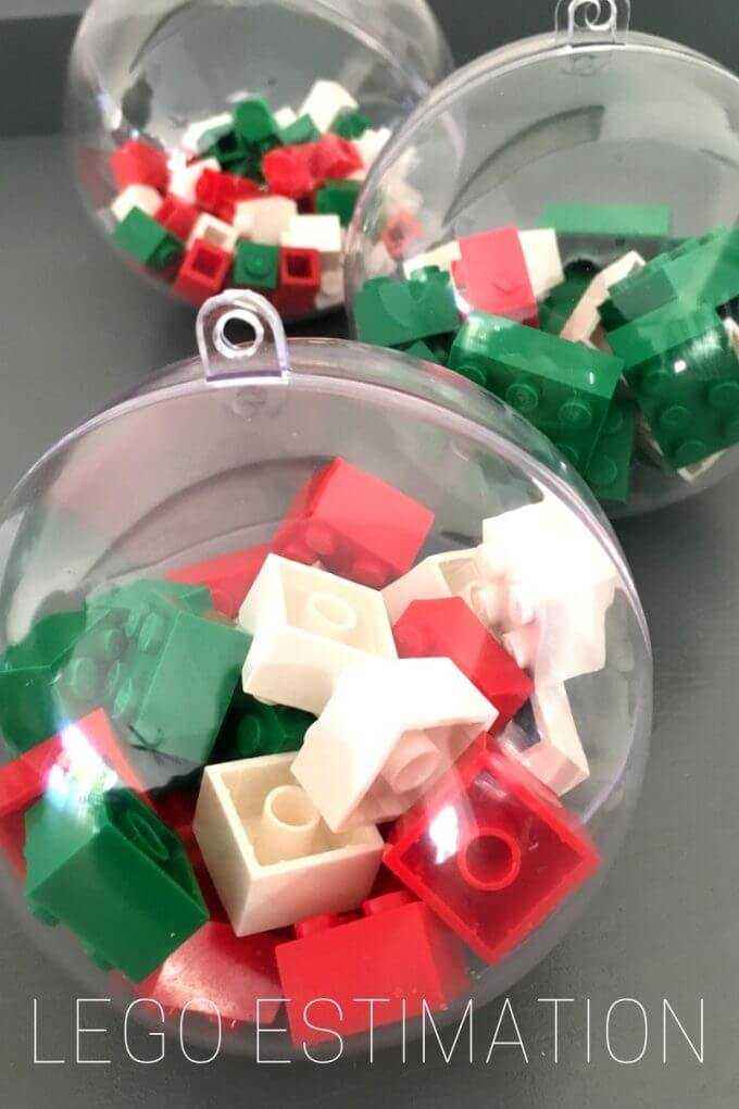 LEGO Math Estimation Christmas Activity