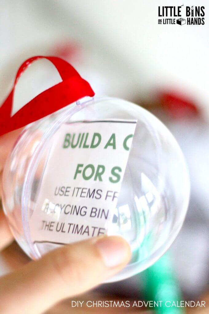 Christmas STEM Challenge In Ornaments for Christmas Countdown Calendar Idea