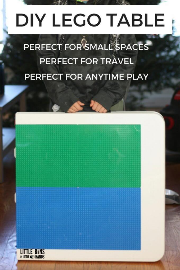Folding LEGO table for small spaces, travel, and large groups