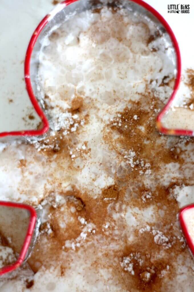 Christmas science and gingerbread man chemistry for kids