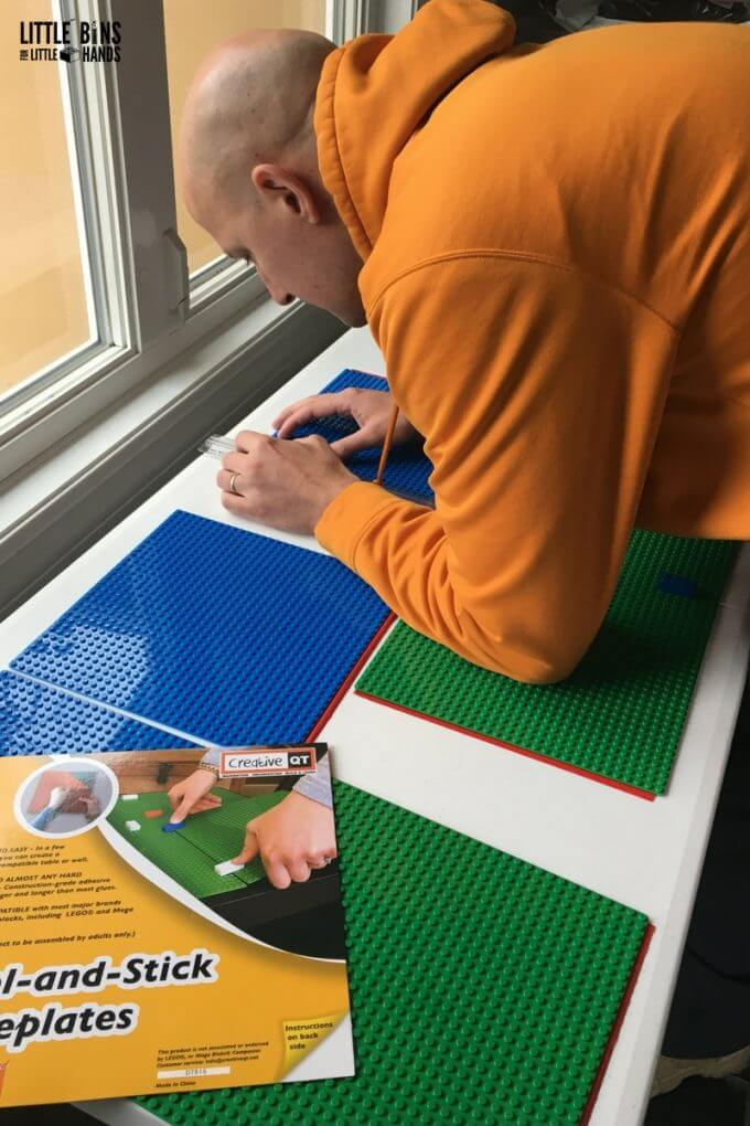 Measuring for folding LEGO table