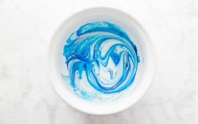 Simple Slime Recipe adding food coloring