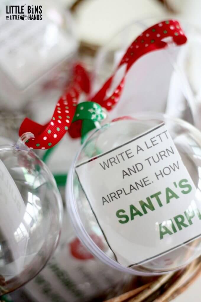 Kids Christmas STEM advent Calendar Using Ornaments