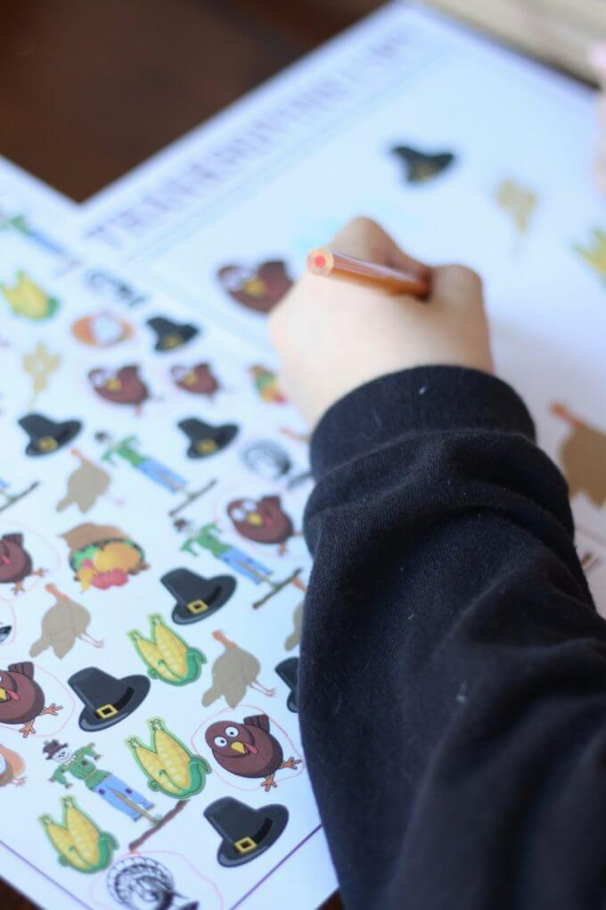 Thanksgiving Printable Counting Activity Free