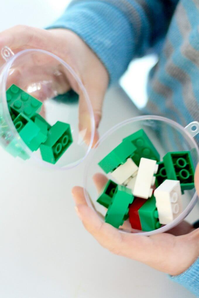 Christmas Math Activity with LEGO Bricks