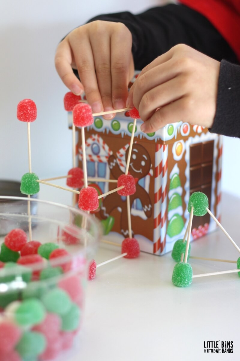 christmas candy stem challenge  design a chimney for santa