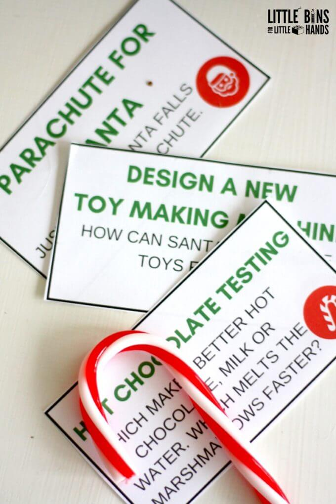 Christmas STEM Challenge Cards and Ideas