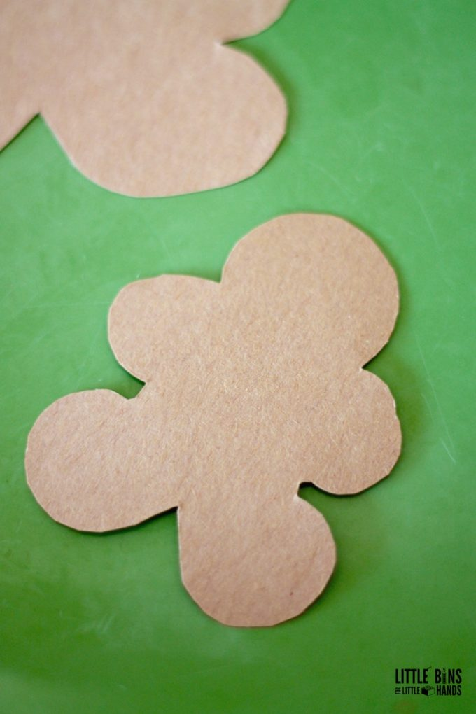Gingerbread Man Cut Outs for Salt Crystal Science Activity